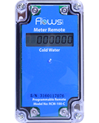 RCM Weatherproof remote digital display for water meters